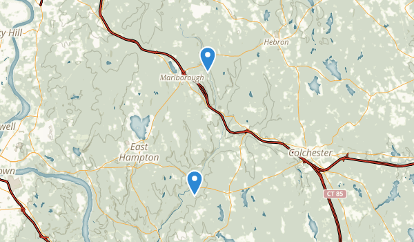 trail locations for Salmon River State Forest