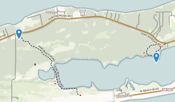 trail locations for Bon Secour National Wildlife Refuge