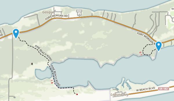 Bon Secour National Wildlife Refuge Map