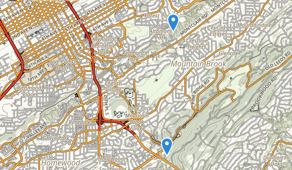 trail locations for Lane Park