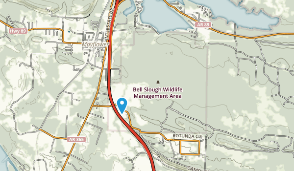 Bell Slough State Wildlife Management Area Map