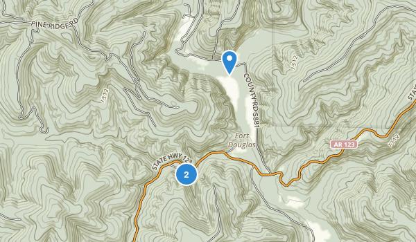 Haw Creek Falls Recreation Area Map