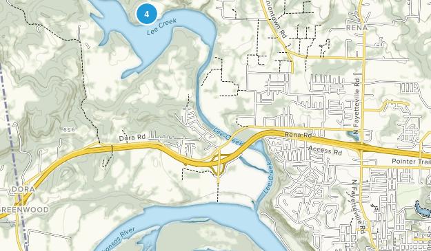 Lee Creek Public Use Area Map