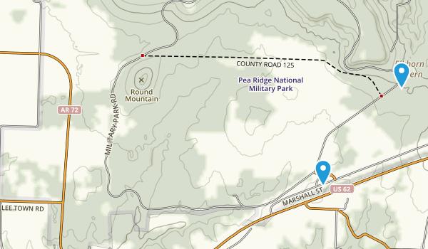 Pea Ridge National Military Park Map
