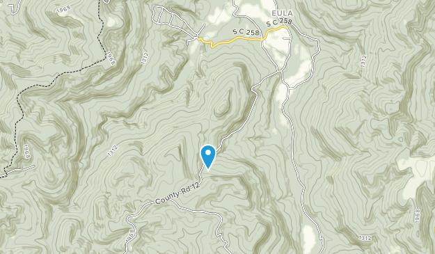 Área escénica de Stack Rock Map