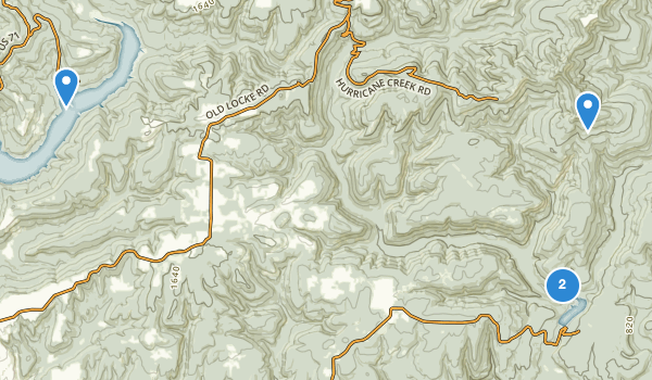 trail locations for White Rock Mountain Recreation Area