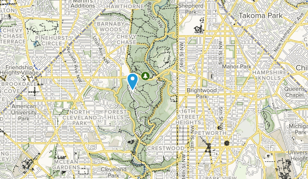 Brightwood Recreation Area Map