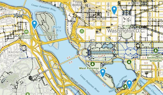 West Potomac Park Map