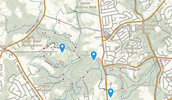 Middle Run Valley Park Map
