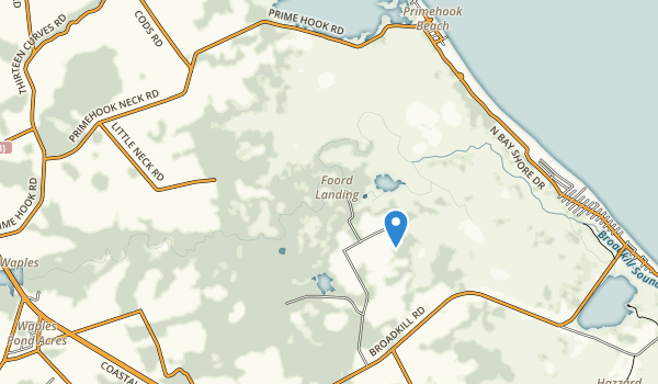 Prime Hook State Wildlife Management Area Map