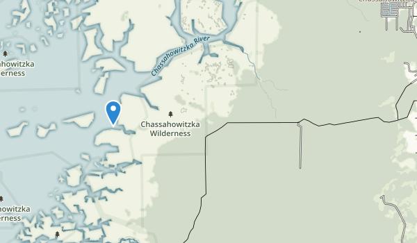 trail locations for Chassahowitzka National Wildlife Refuge
