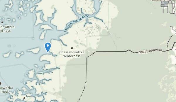 trail locations for Chassahowitzka National Wildlife Refuge