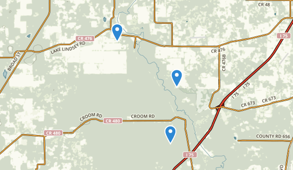trail locations for Croom Wildlife Management Area