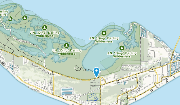 J N Darling National Wildlife Refuge Map