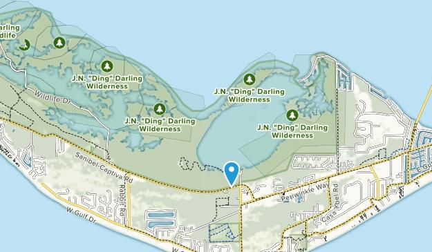 J N Darling National Wildlife Refuge Map