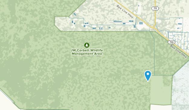 J W Corbett Wildlife Management Area Map