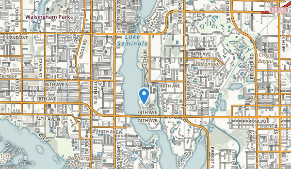 Lake Seminole Park Map