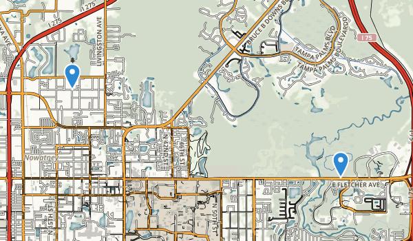 trail locations for Lettuce Lake Regional Park