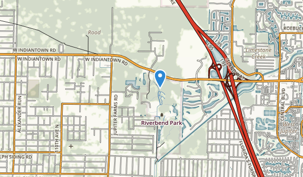 trail locations for Loxahatchee River Bend Park