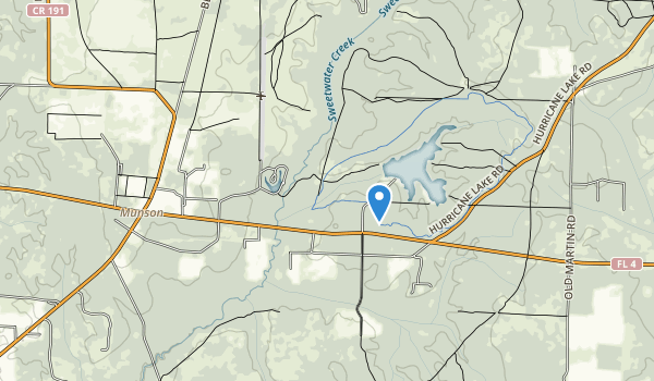 trail locations for Munson Recreation Area