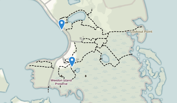 trail locations for Weedon Island State Preserve