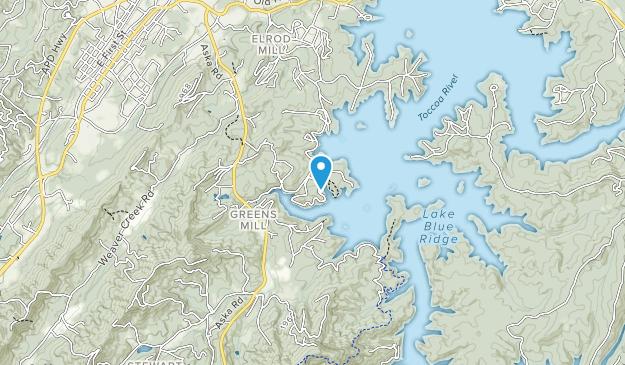 Blue Ridge Lake Recreation Area Map