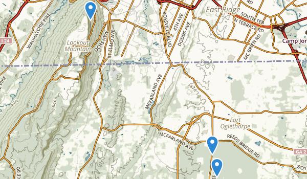 Chickamauga and Chattanooga National Military Park Map