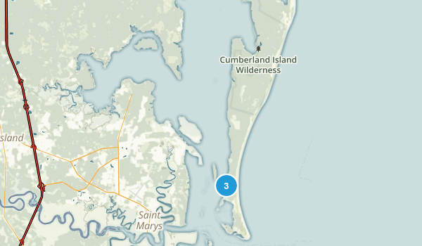 Cumberland Island National Seashore Map