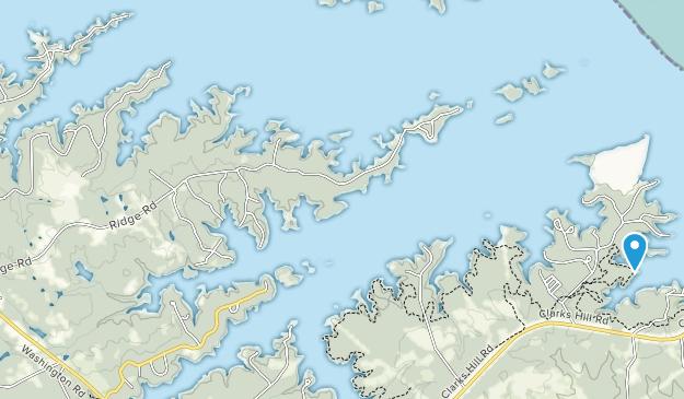Área de recreación de Fort Gordon Map