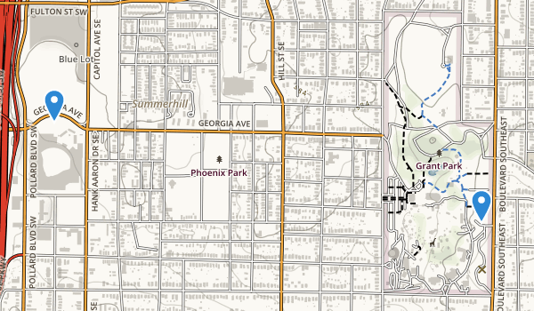 trail locations for Grant Park