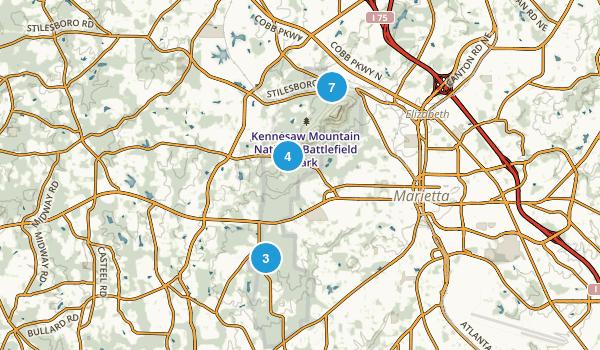 Kennesaw Mountain National Battlefield Park Map