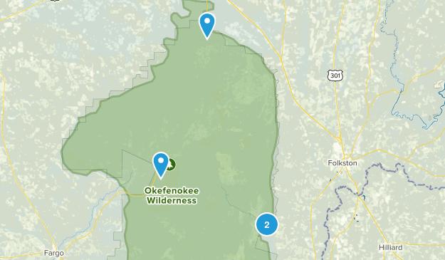 Okefenokee National Wildlife Refuge Map