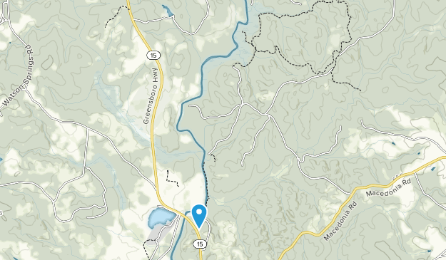 Scull Shoals Archeological Area Map