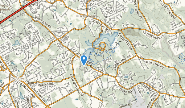 trail locations for Tribble Mill Park