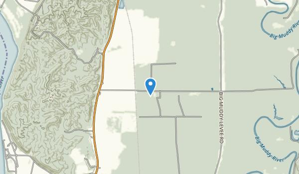 Oakwood Bottoms Greentree Reservoir Interpretive Site Map