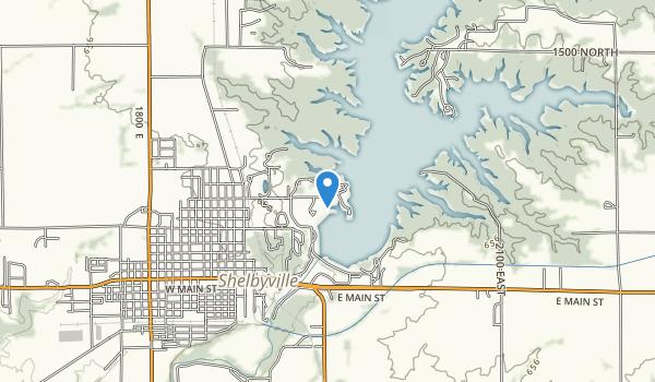Shelbyville Dam West Access Area Map