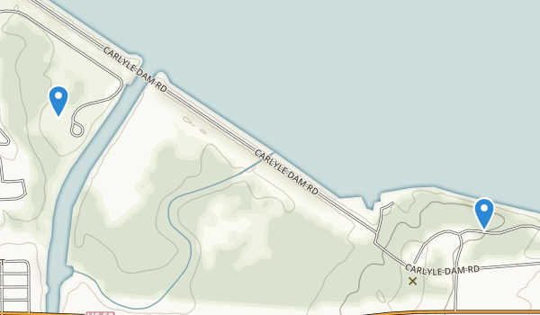 trail locations for Spillway Recreation Area