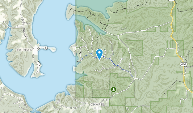Área de recreación Hardin Ridge Map