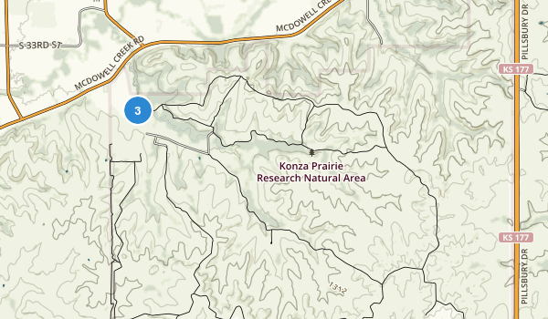 Konza Prairie Natural Area Map