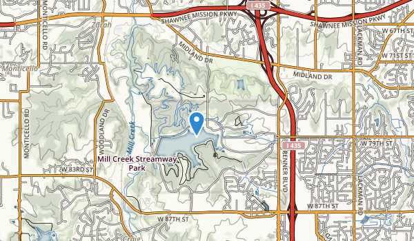 trail locations for Shawnee Mission Park