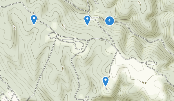 trail locations for Carter Caves State Resort Park