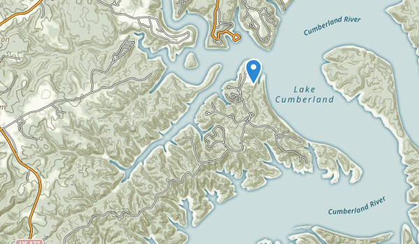 trail locations for Lake Cumberland State Park