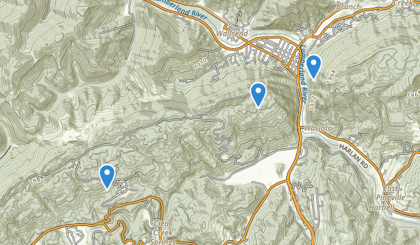 trail locations for Pine Mountain State Resort Park