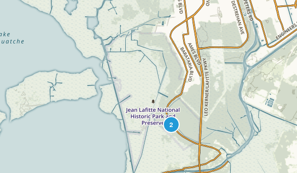 Best Trails In Jean Lafitte National Historical Park And Preserve - Map os us national historical parks