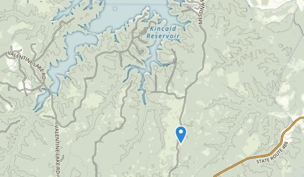 trail locations for Kincaid Recreation Area