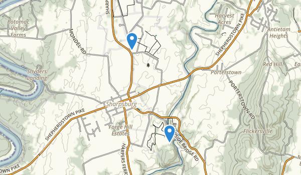 Antietam National Battlefield Map