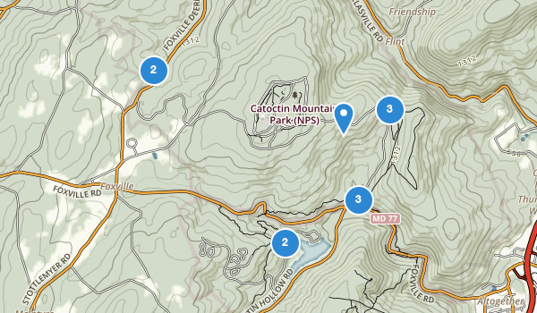 trail locations for Catoctin Mountain Park