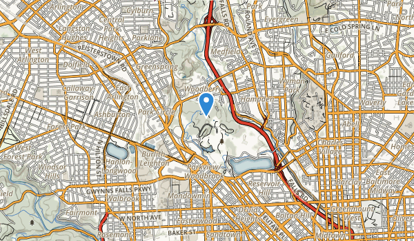 trail locations for Druid Hill Park
