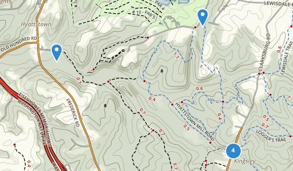 trail locations for Little Bennett Regional Park