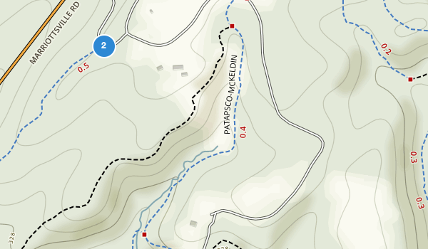 trail locations for McKeldin Recreation Area